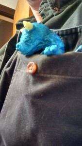 Baby Dragon Sleeping in Pocket