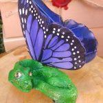 Green Fairy Dragon Hair Clip
