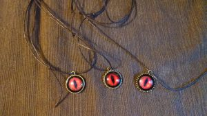 Red Dragon Eye Pendants